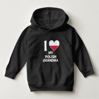 I Heart My Polish Grandma Hoodie