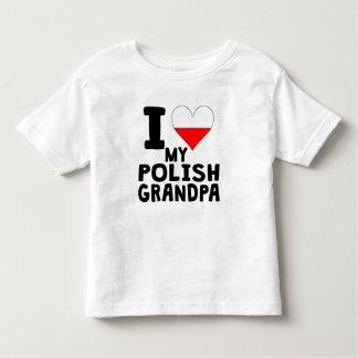 I Heart My Polish Grandpa Toddler T-shirt