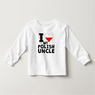 I Heart My Polish Uncle Toddler T-shirt
