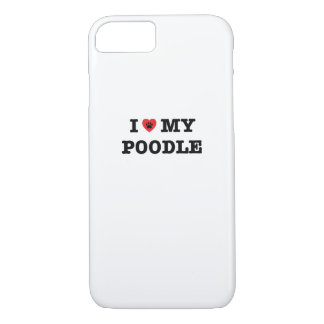 I Heart My Poodle iPhone Case