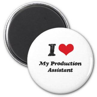 I heart My Production Assistant Fridge Magnet