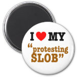 "I Heart My ""Protesting Slob"" Fridge Magnets"