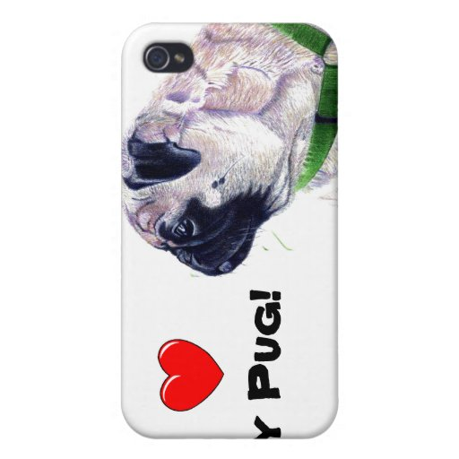 I Heart My Pug! Dog / iPhone 4 Cases