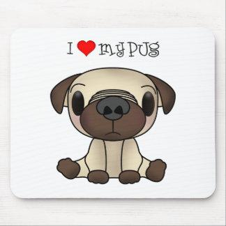I Heart My Pug Mouse Pad