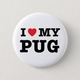 I Heart My Pug Pinback Button
