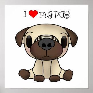 I Heart My Pug Print