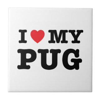 I Heart My Pug Tile