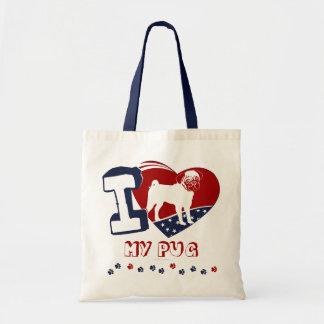 I [Heart] My Pug Tote Bag