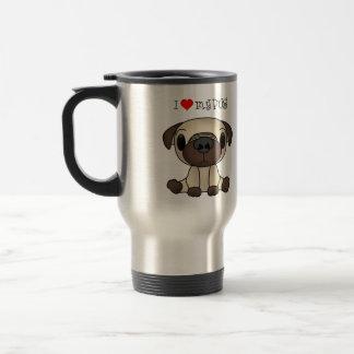 I Heart My Pug Travel Mug