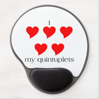 I Heart My Quintuplets Gel Mouse Pad