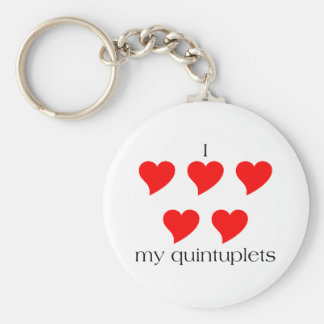 I Heart My Quintuplets Keychain