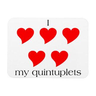 I Heart My Quintuplets Magnet