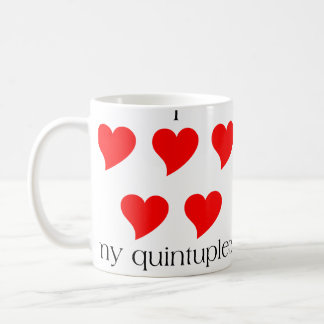 I Heart My Quintuplets Classic White Coffee Mug