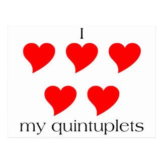 I Heart My Quintuplets Postcard