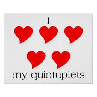 I Heart My Quintuplets Poster