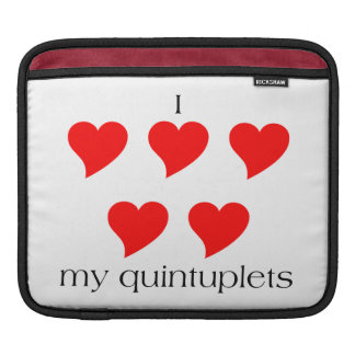 I Heart My Quintuplets Sleeves For iPads