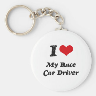 I heart My Race Car Driver Key Chains