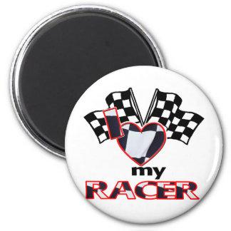 I Heart My Racer Magnet