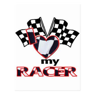 I Heart My Racer Postcard