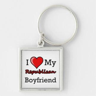 I Heart My Republican Boyfriend Keychain