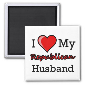 I Heart My Republican Husband Magnet