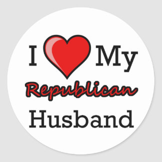 I Heart My Republican Husband Stickers