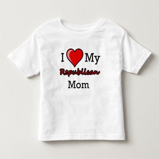 I Heart My Republican Mom ToddlerT-Shirt Toddler T-shirt