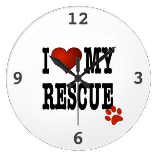 I Heart My Rescue Clock