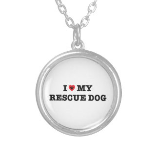 I Heart My Rescue Dog Necklace