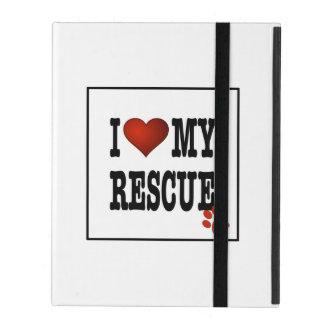 I Heart My Rescue iPad Cases