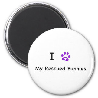 I Heart My Rescued Bunnies Magnet