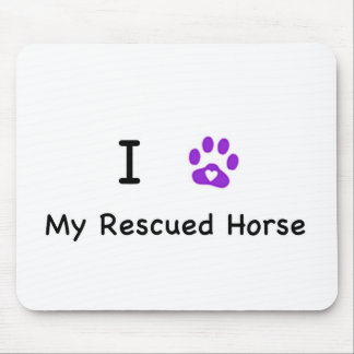 I Heart My Rescued Horse Mouse Pad