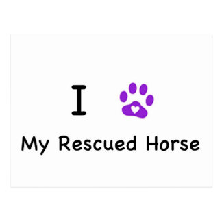I Heart My Rescued Horse Postcard
