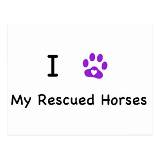 I Heart My Rescued Horses Postcard