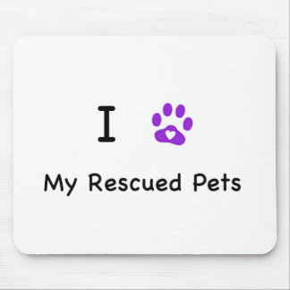 I Heart My Rescued Pets Mouse Pad