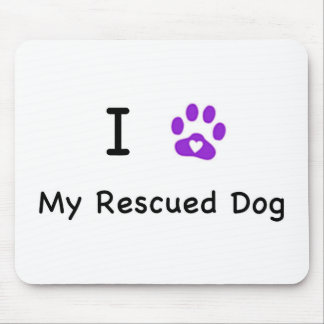 I Heart My Rescued tDog Mouse Pad