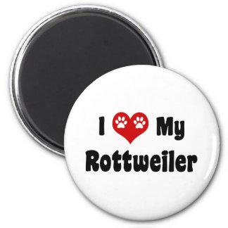 I Heart My Rottweiler 2 Inch Round Magnet