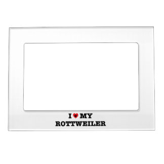 I Heart My Rottweiler Magnetic Photo Frame
