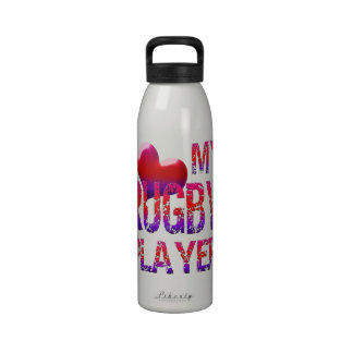 I Heart My Rugby Player Liberty Bottle Water Bottle
