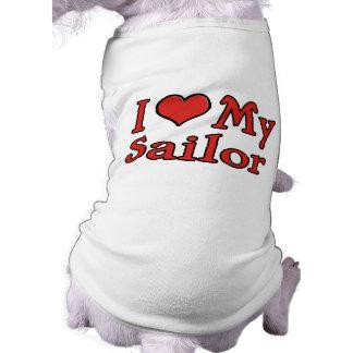 I Heart My Sailor Doggie Tee