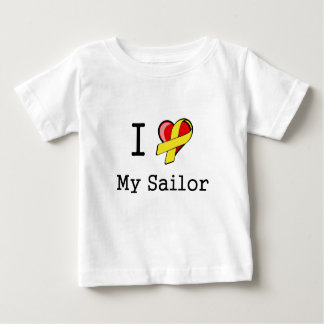 I Heart My Sailor Infant Shirt