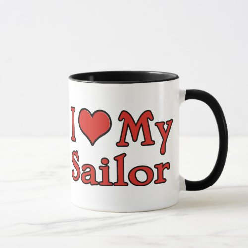 I Heart My Sailor Mug