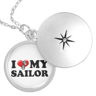 I (Heart) My Sailor Silver Plated Necklace