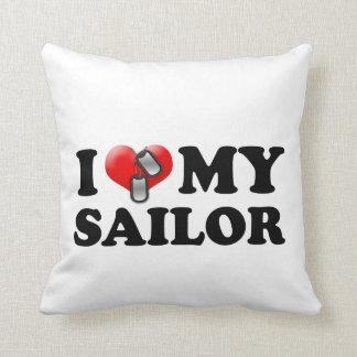 I (Heart) My Sailor Throw Pillow