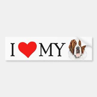 I (heart) my Saint Bernard Bumper Sticker