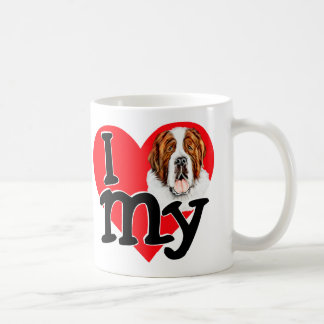I (heart) my Saint Bernard Coffee Mug