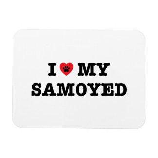 I Heart My Samoyed Magnet