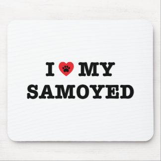 i Heart My Samoyed Mouse Pad