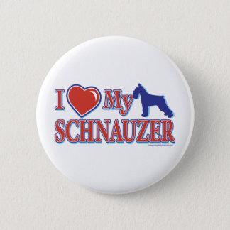 I Heart My Schnauzer Button