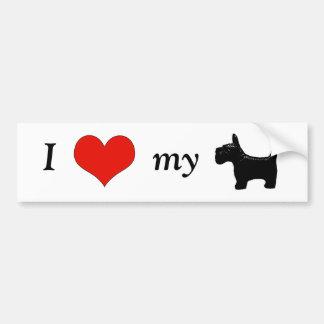 I Heart My Scottie Bumper Sticker Car Bumper Sticker